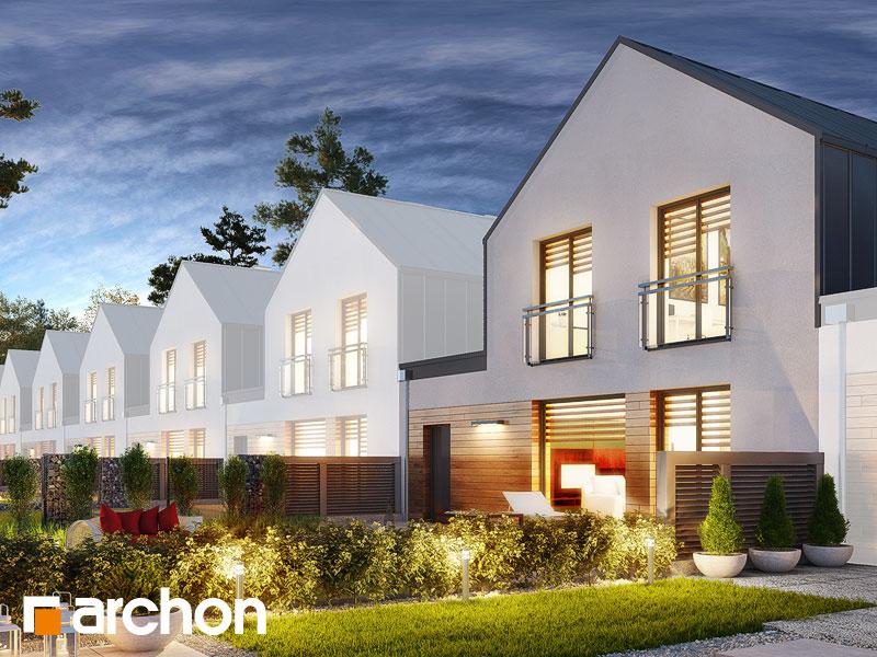 gotowy projekt Dom w arkadiach 3 (GS) widok 2
