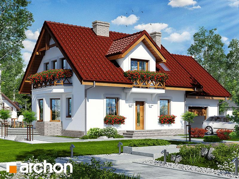 gotowy projekt Dom w rododendronach 19 widok 1