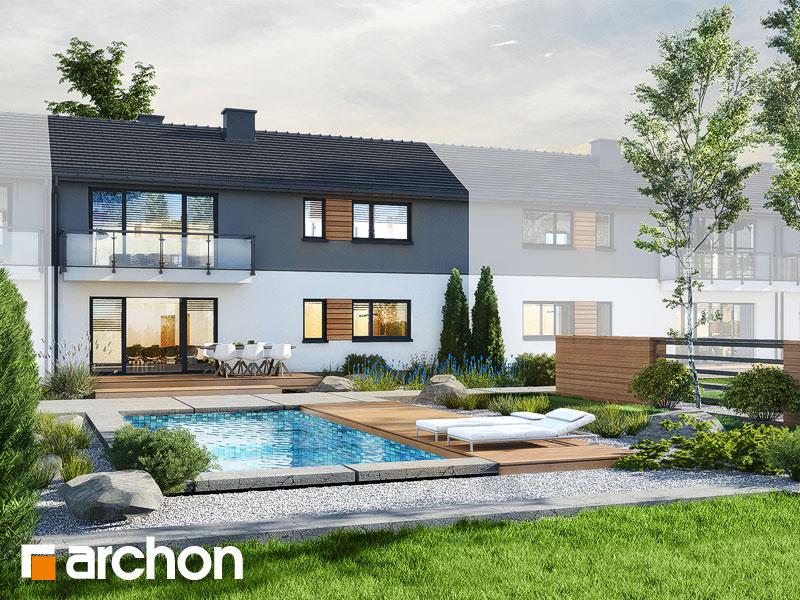 gotowy projekt Dom w iberisach (R2S) widok 2