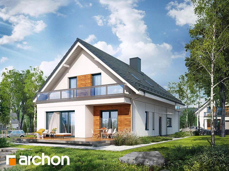 gotowy projekt Dom we floksach 2 widok 1