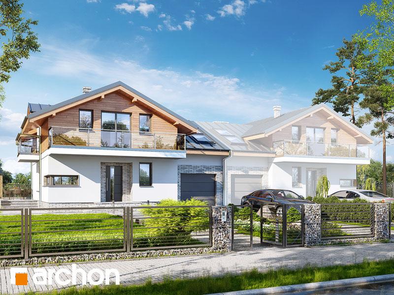 gotowy projekt Dom w budlejach (B) widok 1