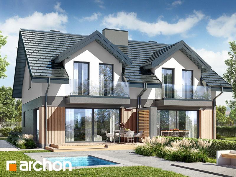 gotowy projekt Dom w klementynkach 2 (R2) widok 2