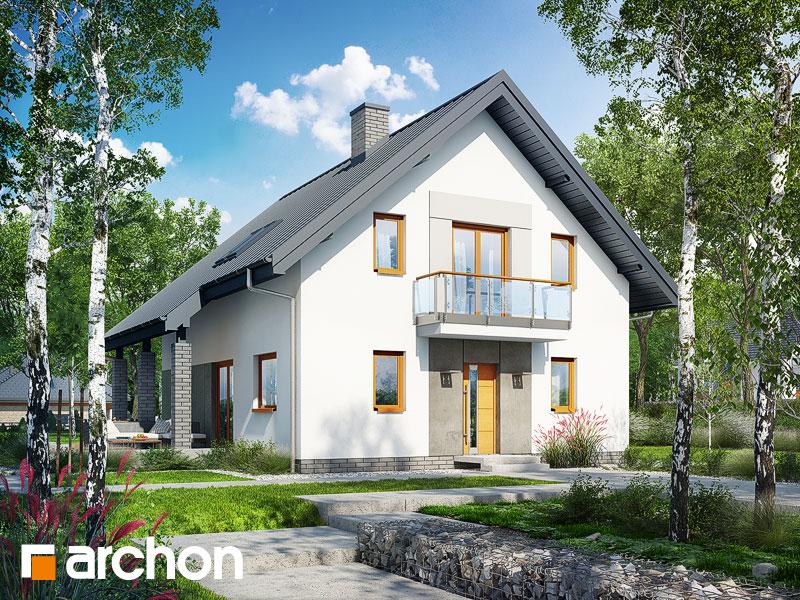 gotowy projekt Dom w dzwonecznikach 2 widok 1