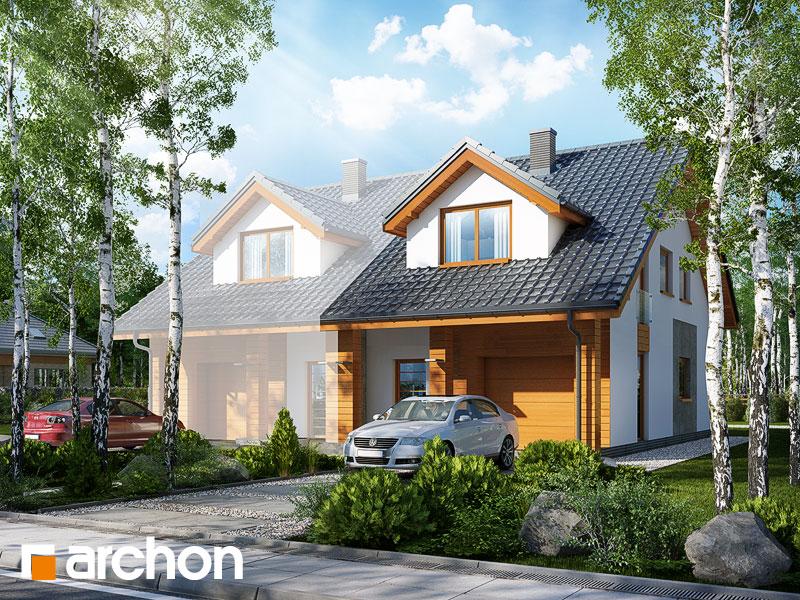 gotowy projekt Dom pod miłorzębem 6 (GB) widok 1