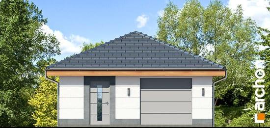 Elewacja frontowa projekt garaz 1 stanowiskowy g24  264