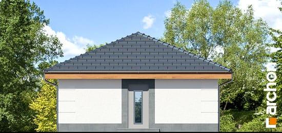 Elewacja ogrodowa projekt garaz 1 stanowiskowy g24  267