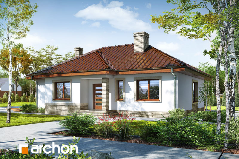 projekt Dom we wrzosach 2 (M) widok 1