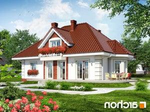 projekt Dom w glicyniach lustrzane odbicie 2