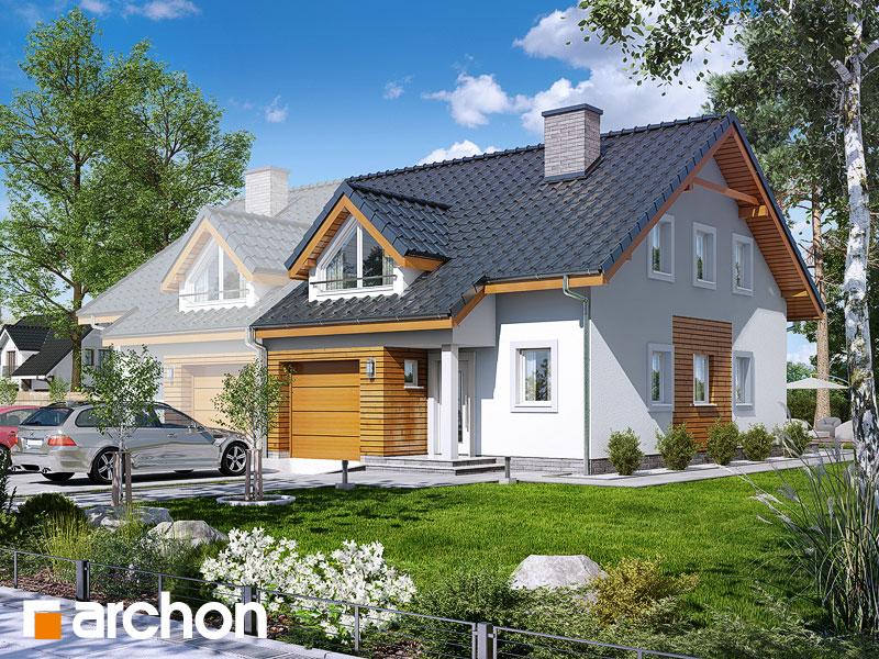 projekt Dom w klematisach 17 (B) widok 1