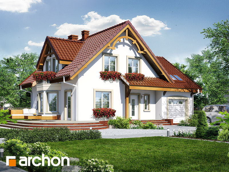 gotowy projekt Dom w tamaryszkach 3 widok 1