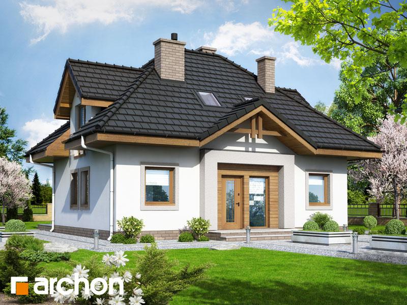 gotowy projekt Dom w niezapominajkach (N) widok 2
