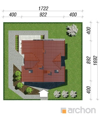 projekt Dom w rododendronach sytuacja