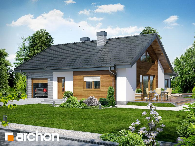 gotowy projekt Dom w gloksyniach widok 1