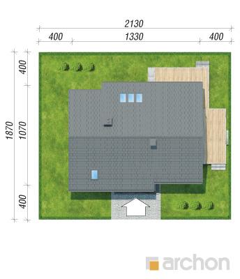 projekt Dom w aurorach 5 sytuacja