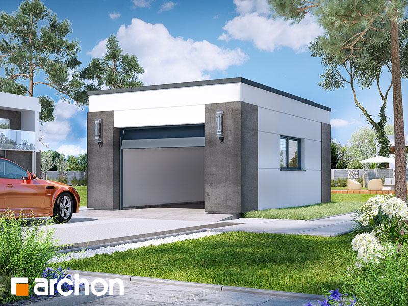gotowy projekt Garaż 1-stanowiskowy G30 widok 1