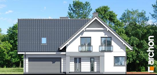 Elewacja frontowa projekt dom w orliczkach g2  264