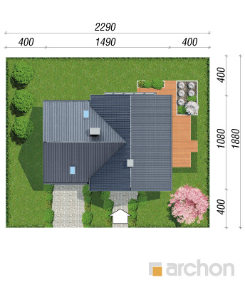 projekt Dom w orliczkach (G2) sytuacja