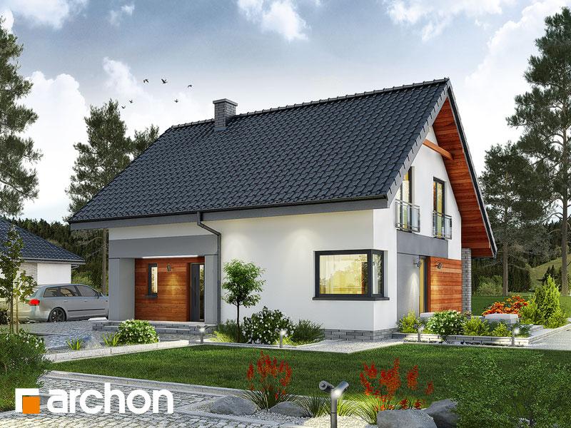gotowy projekt Dom w malinówkach (E) widok 1