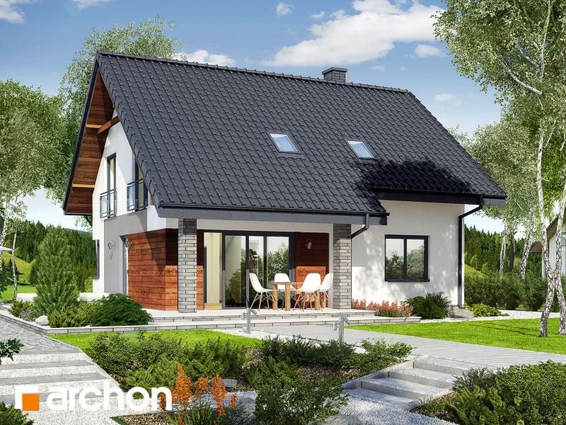 gotowy projekt Dom w malinówkach (E) widok 2
