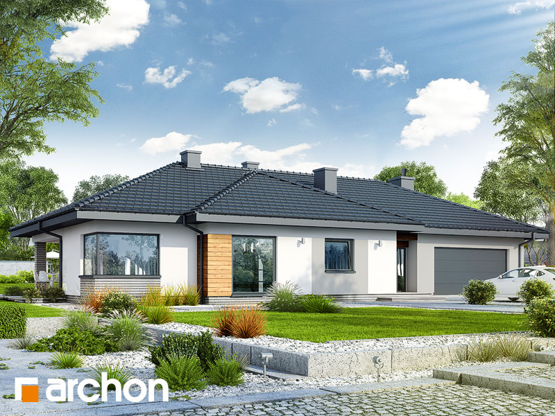 gotowy projekt Dom w żagwinach (G2) widok 1