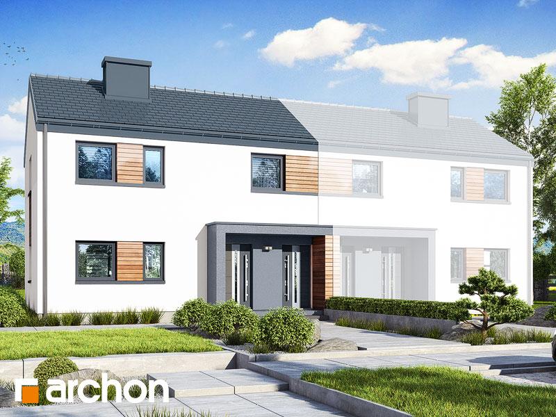 gotowy projekt Dom w halezjach 3 (R2B) widok 1