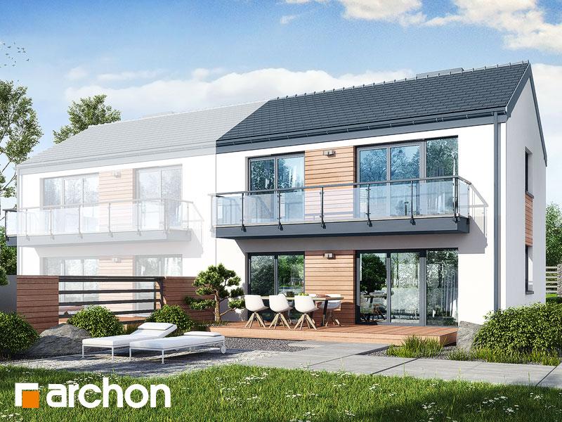 gotowy projekt Dom w halezjach 3 (R2B) widok 2