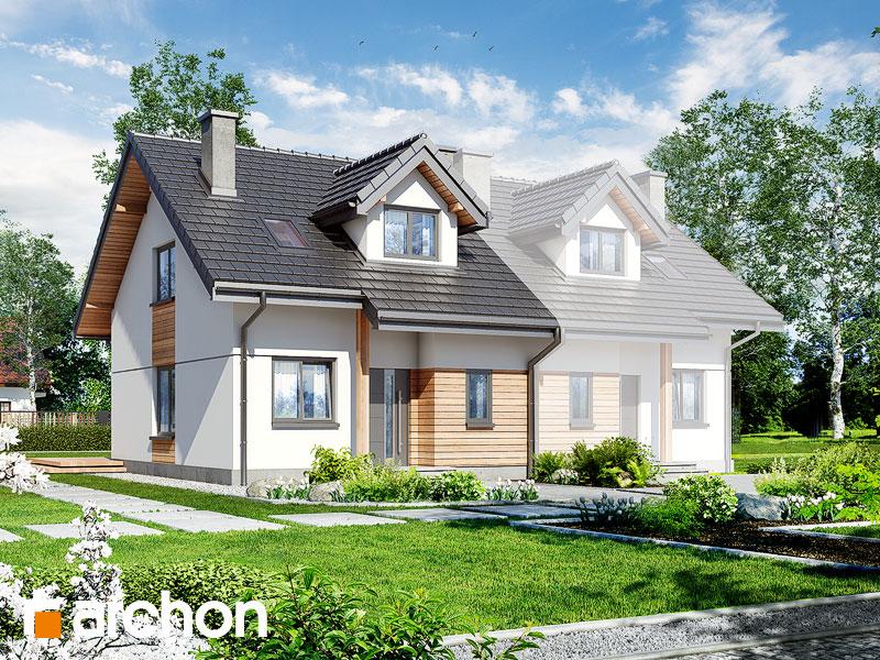 gotowy projekt Dom w cyklamenach 2 (A) widok 1