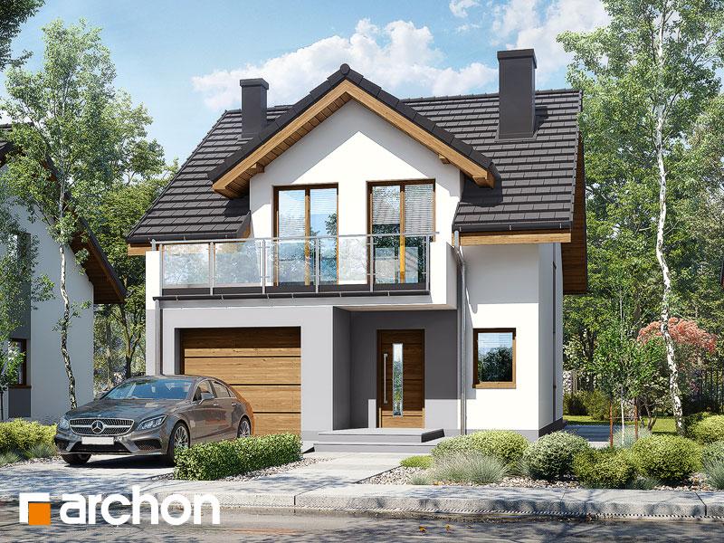 gotowy projekt Dom w klematisach 21 widok 1