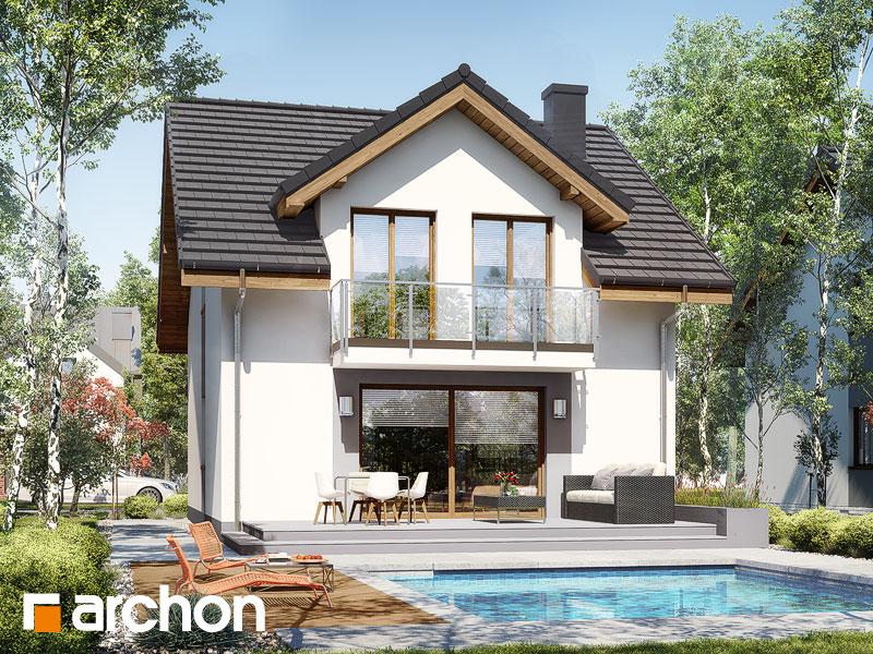 gotowy projekt Dom w klematisach 21 widok 2