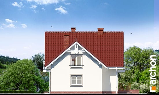 Elewacja boczna projekt dom w rododendronach 2 ver 2  265