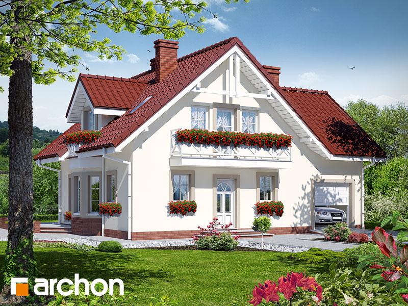 gotowy projekt Dom w rododendronach 2 widok 1