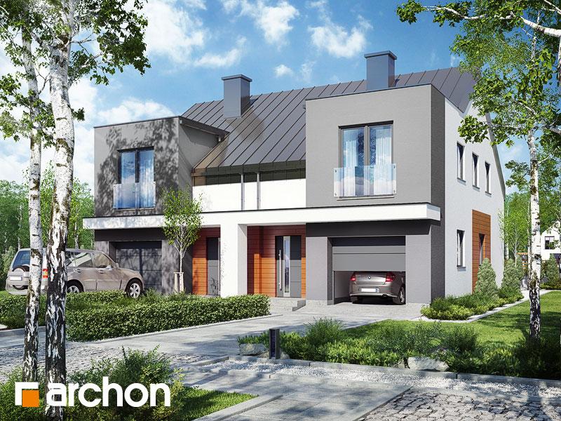 projekt Dom pod miłorzębem 7 (GR2N) widok 1