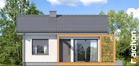 Elewacja frontowa projekt domek letniskowy w krokusach 3  264