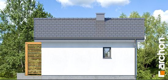 Elewacja ogrodowa projekt domek letniskowy w krokusach 3  267