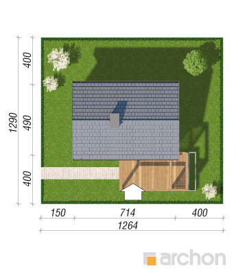 projekt Domek letniskowy w krokusach 3 sytuacja
