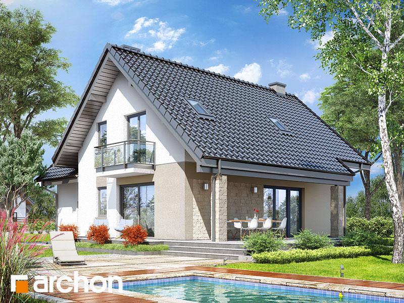 gotowy projekt Dom w liatrach widok 2
