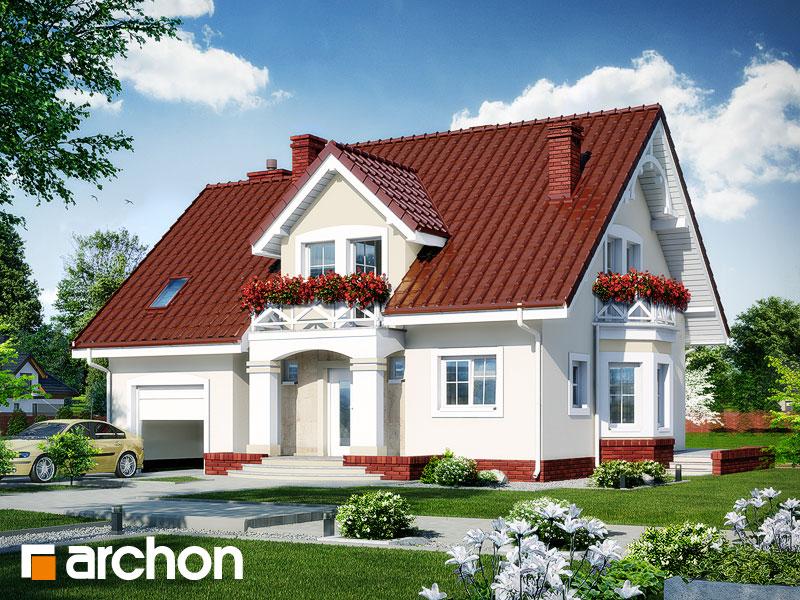 gotowy projekt Dom w tamaryszkach 4 widok 1