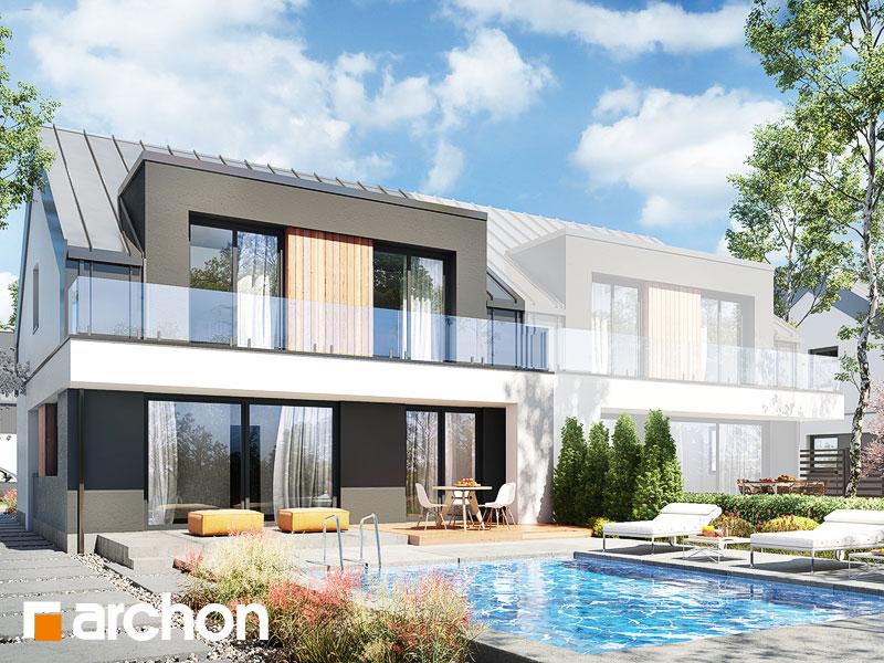gotowy projekt Dom w klematisach 30 (B) widok 1