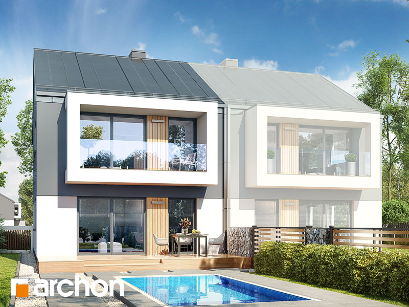 gotowy projekt Dom w bratkach 12 (R2B) widok 1