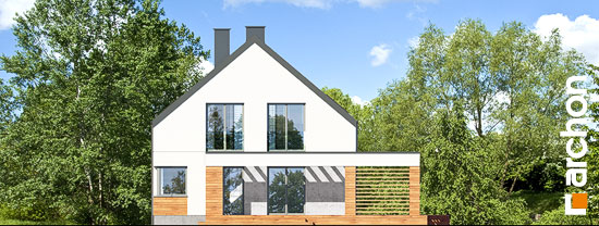 Elewacja ogrodowa projekt dom w santini 3 g2  267