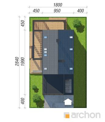 projekt Dom w santini 3 (G2) sytuacja