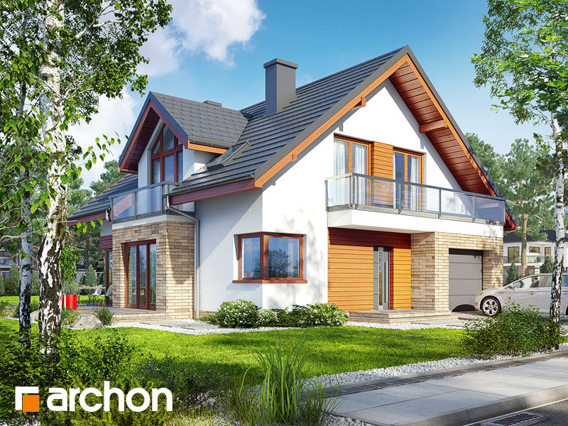 gotowy projekt Dom w tymianku 8 widok 1