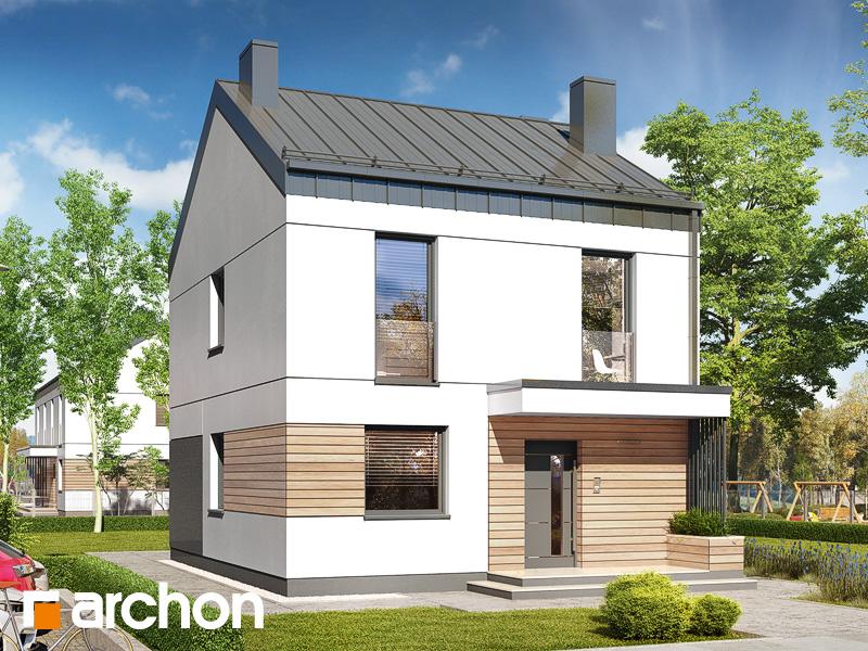 gotowy projekt Dom w arkadiach 4 widok 1