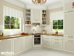 projekt Dom w rododendronach 6 (N) Wizualizacja kuchni 1 widok 1
