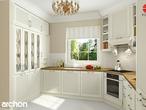 projekt Dom w rododendronach 6 (N) Wizualizacja kuchni 1 widok 2