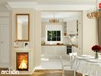 projekt Dom w rododendronach 6 (N) Wizualizacja kuchni 1 widok 3