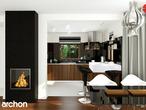 projekt Dom w rododendronach 6 (N) Wizualizacja kuchni 2 widok 1