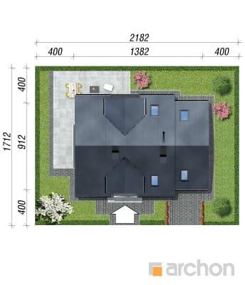 projekt Dom w rododendronach 6 (N) sytuacja