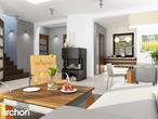 projekt Dom w rododendronach 6 (N) Strefa dzienna (wizualizacja 1 widok 1)