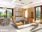 projekt Dom w rododendronach 6 (N) Strefa dzienna (wizualizacja 1 widok 2)